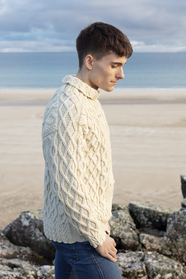 Aranmor hand knitwear design from the book Aran Knitting by Alice Starmore