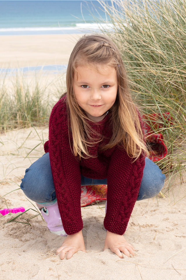 Classic Aran hand knitwear design from the book The Children's Collection by Alice Starmore