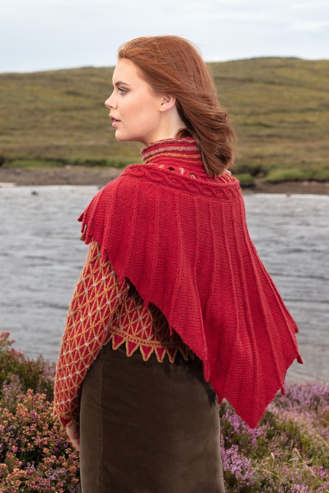 Jane Seymour & Raven Collar hand knitwear designs by Alice Starmore