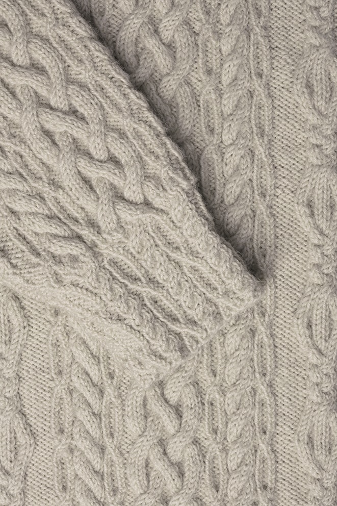 Fulmar hand knitwear design from the book Aran Knitting by Alice Starmore