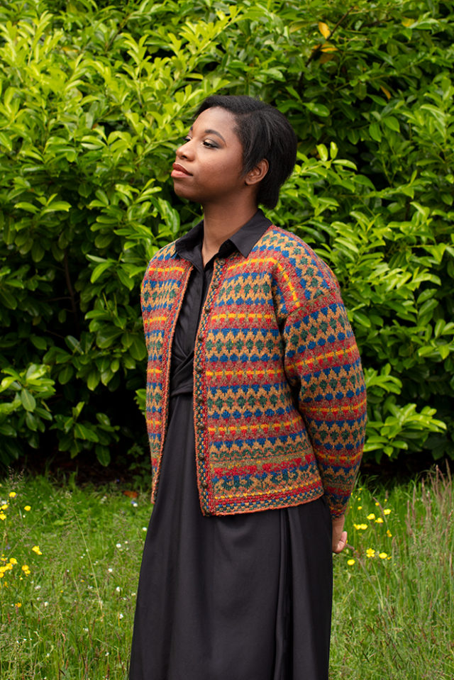 Gypsy Moth hand knitwear design from the book A Collector's Item by Jade Starmore
