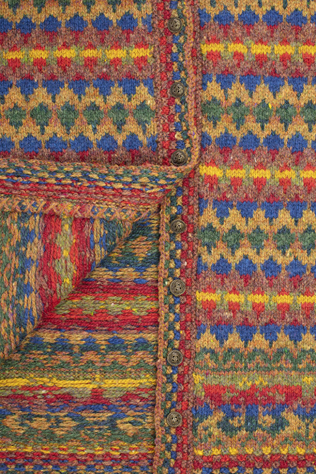 Detail of the Gypsy Moth hand knitwear designs from the book A Collector's Item by Jade Starmore