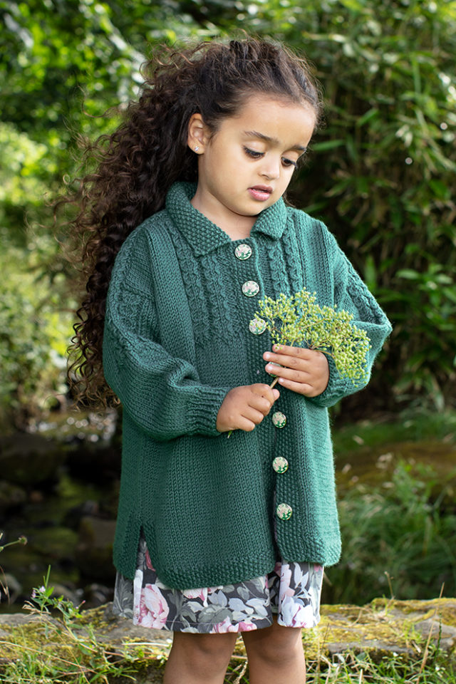 Mendocino hand knitwear design from the book The Children's Collection by Alice Starmore
