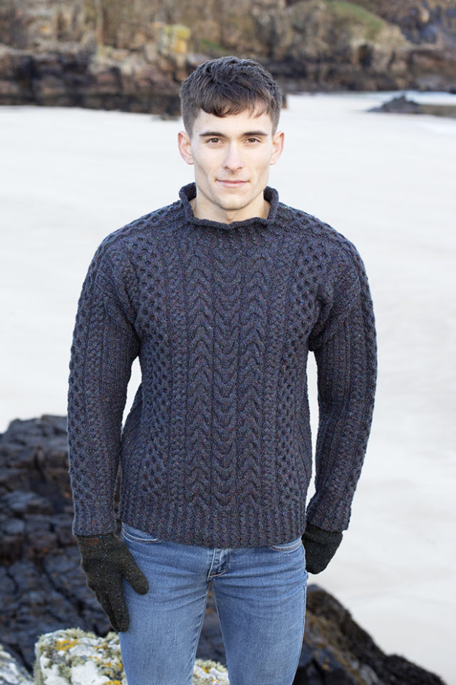 Na Craga hand knitwear design from the book Aran Knitting by Alice Starmore