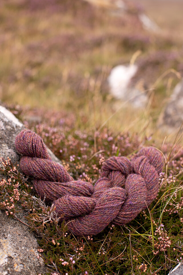 Alice Starmore 2 Ply Hebridean hand knitting yarn in Capercailie