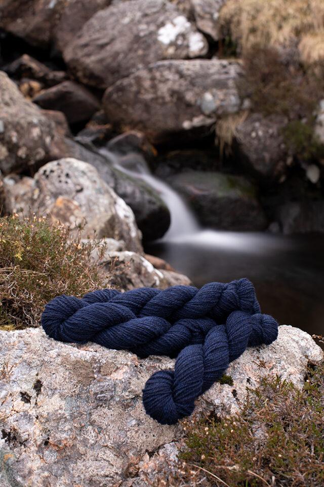 Alice Starmore 2 Ply Hebridean hand knitting yarn in Kelpie