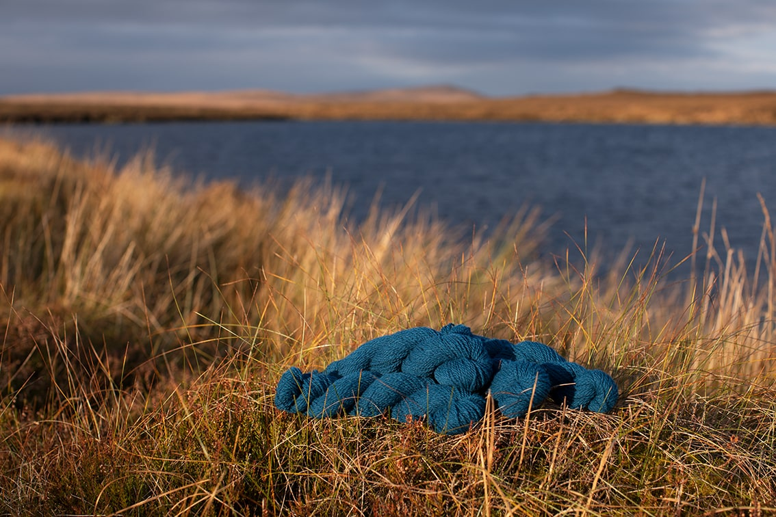 Alice Starmore 2 Ply Hebridean hand knitting yarn in Mara