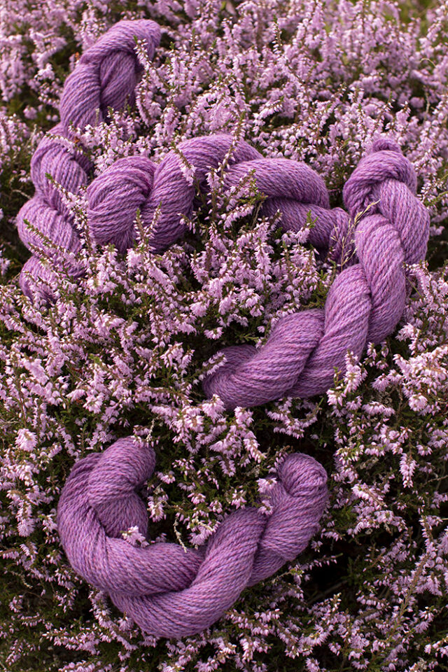 Alice Starmore 2 Ply Hebridean hand knitting yarn in Wild Orchid