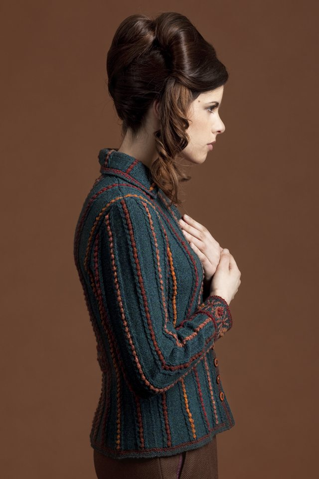 Anne Boleyn hand knitwear design by Alice Starmore from the book Tudor Roses