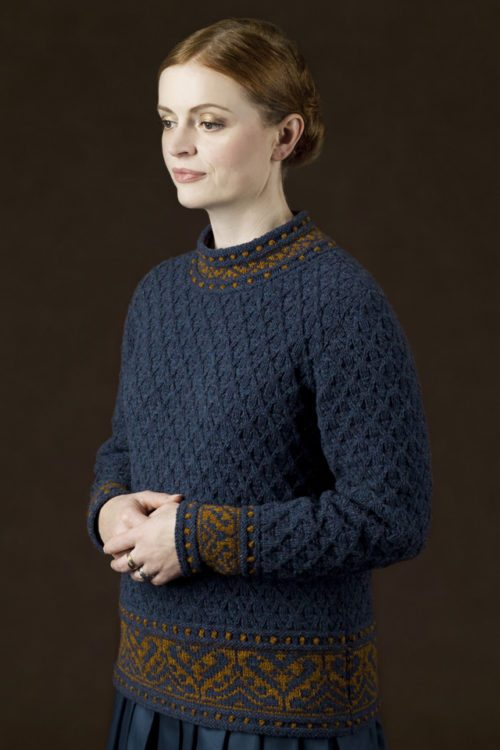 Catherine Parr hand knitwear design by Alice Starmore from the book Tudor Roses