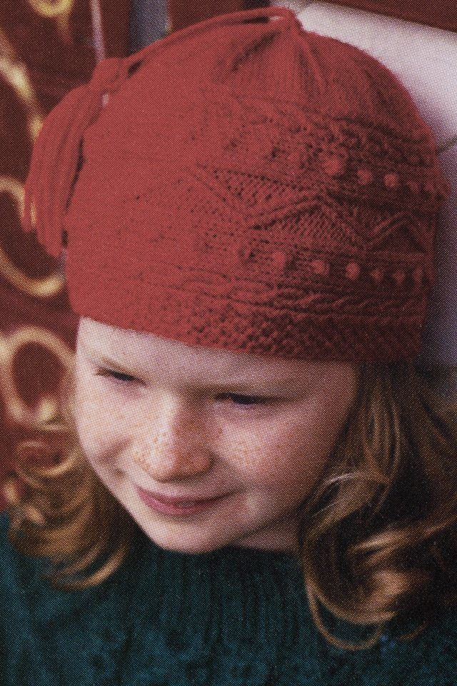 Galway Hat design from Aran Knitting by Alice Starmore in Scottish Fleet pure British wool hand knitting yarn