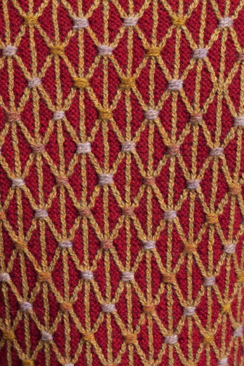 Jane Seymour hand knitwear design by Alice Starmore from the book Tudor Roses