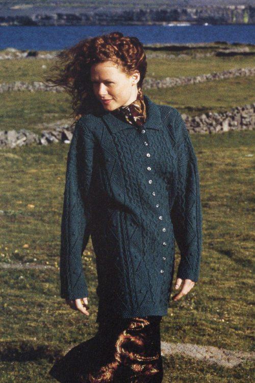 Maidenhair design from Aran Knitting by Alice Starmore in Scottish Fleet pure British wool hand knitting yarn