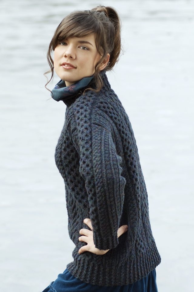 Na Craga design from Aran Knitting by Alice Starmore in Hebridean 3 Ply pure British wool hand knitting yarn