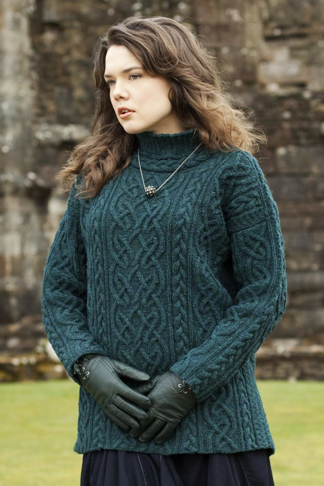 St Brigid design from Aran Knitting by Alice Starmore in Hebridean 3 Ply pure British wool hand knitting yarn
