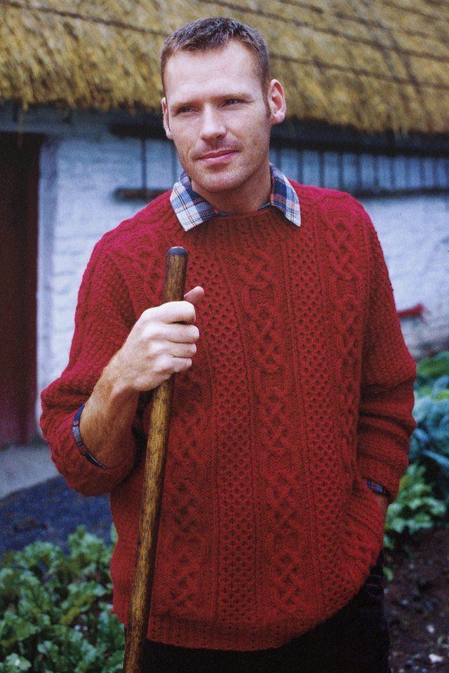 St Enda design from Aran Knitting by Alice Starmore in Bainin pure British wool hand knitting yarn