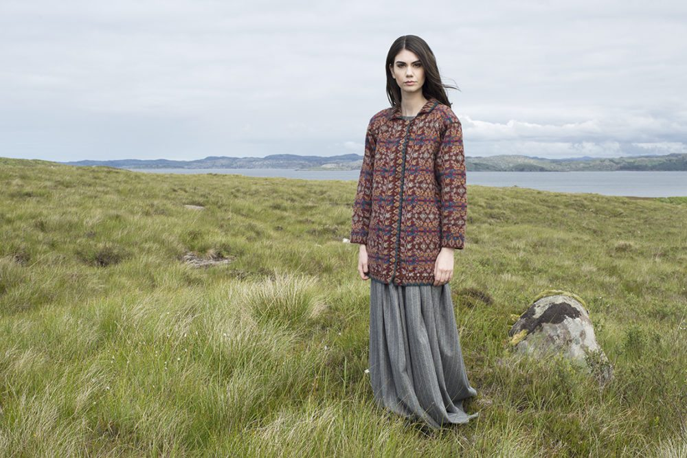 Altnaharra design patterncard kit in Hebridean 2 Ply pure British wool hand knitting yarn by Alice Starmore