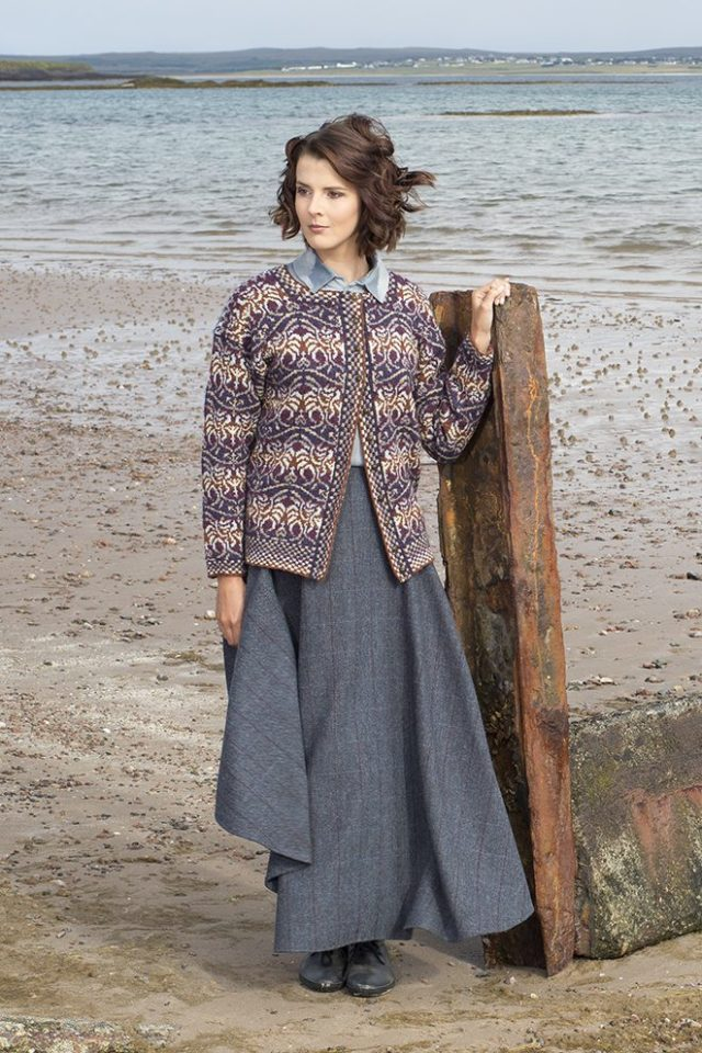 Angels design patterncard kit in Hebridean 2 Ply pure British wool hand knitting yarn by Jade Starmore