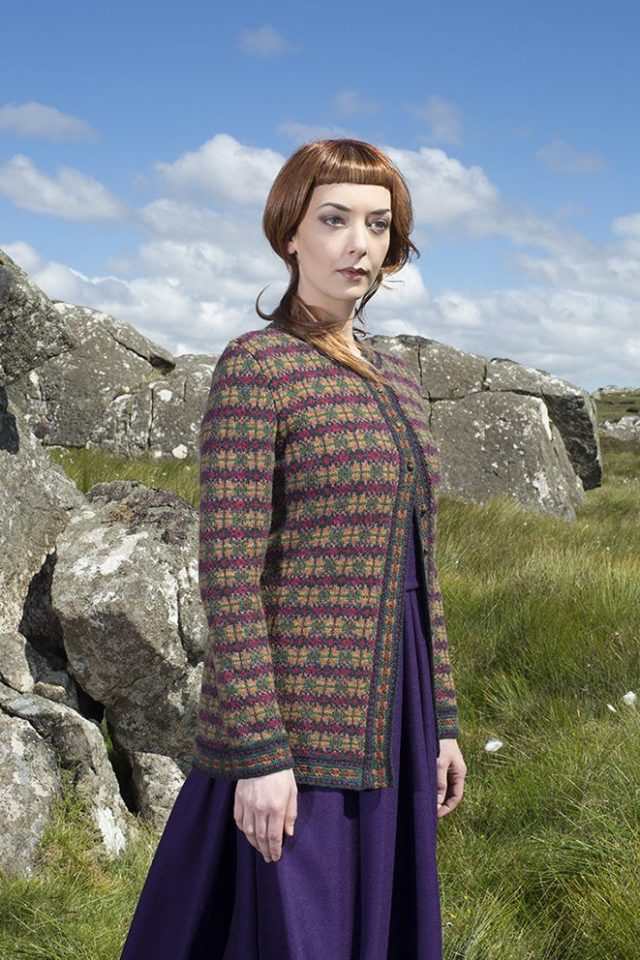 The Caileach hand knitwear design by Alice Starmore from the book Glamourie