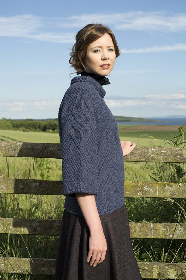 Cairngorm Brooch patterncard kit by Alice Starmore in Bainin pure British wool hand knitting yarn