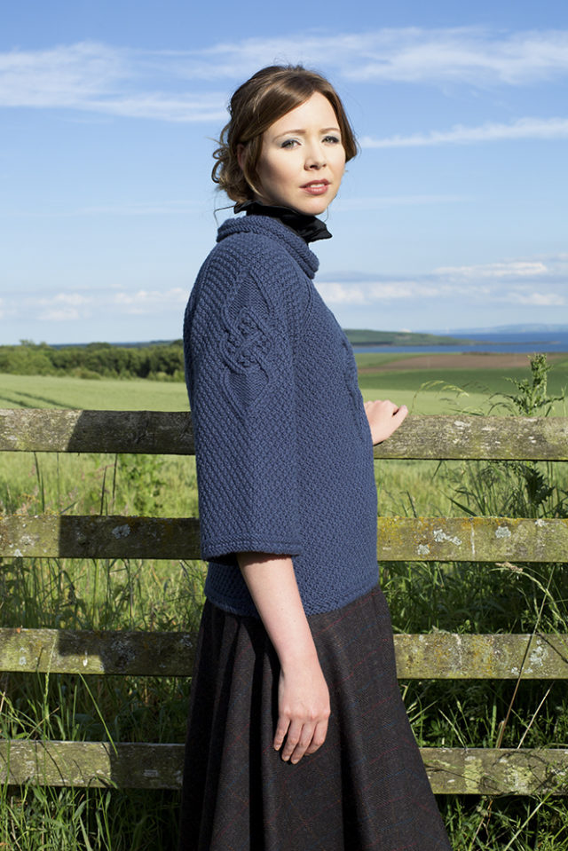 Cairngorm Broach patterncard kit design by Alice Starmore in Bainin yarn