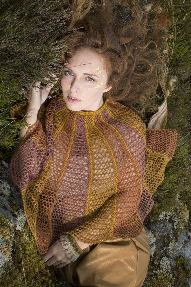 The Damsel shawl by Alice Starmore from the book Glamourie
