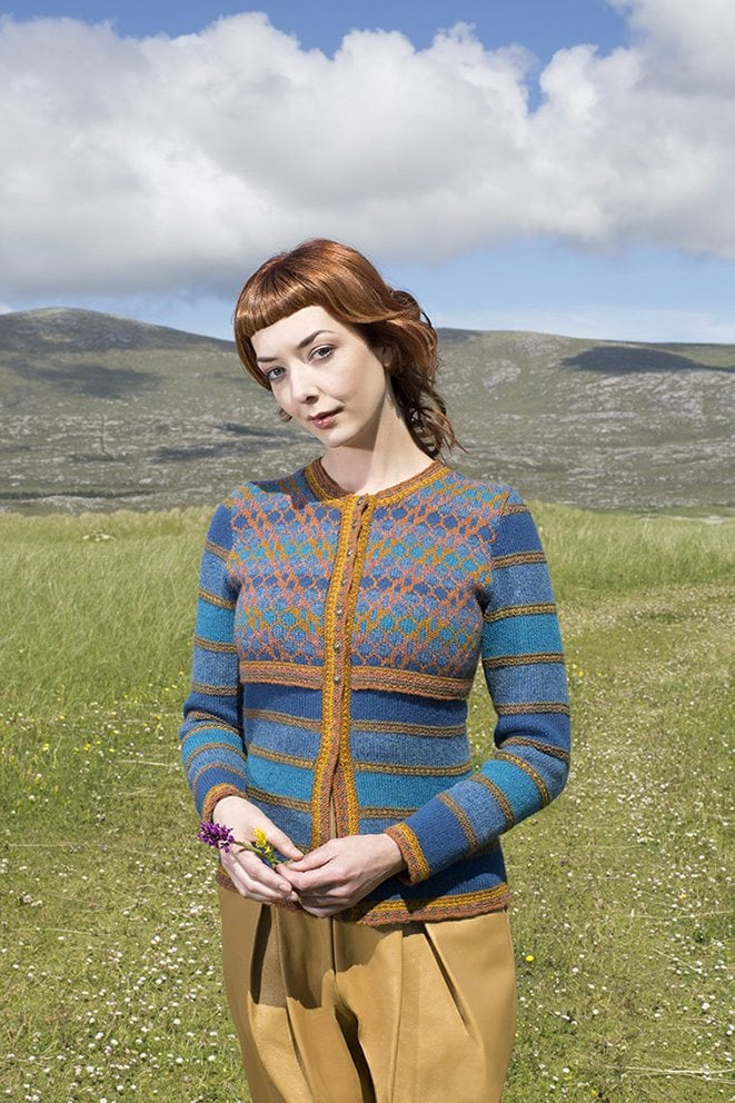 The Damsel Fly hand knitwear design by Alice Starmore from the book Glamourie