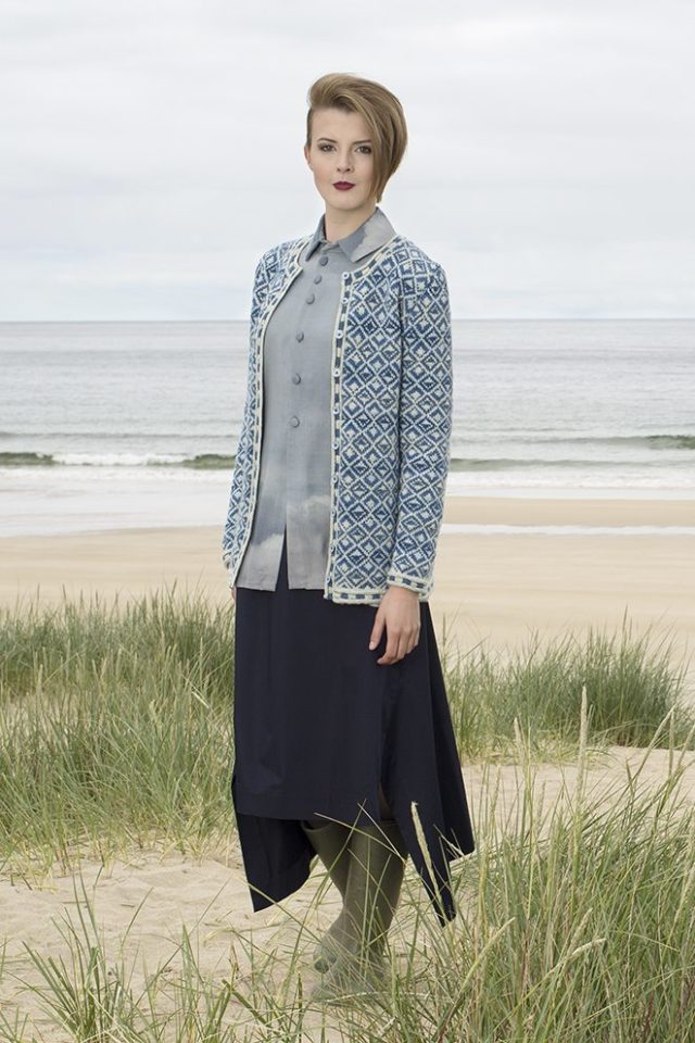 Delta classic design patterncard kit by Jade Starmore in Hebridean 2 Ply pure British wool hand knitting yarn
