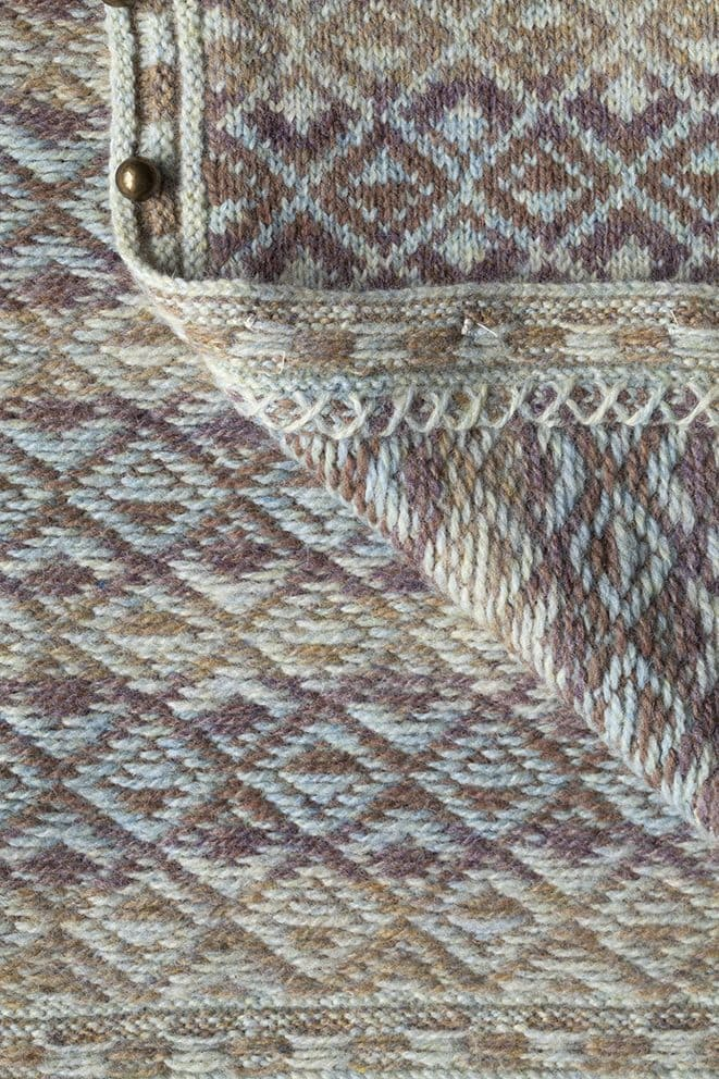 Delta in sand colourway by Jade Starmore in Hebridean 2 Ply pure British wool hand knitting yarn