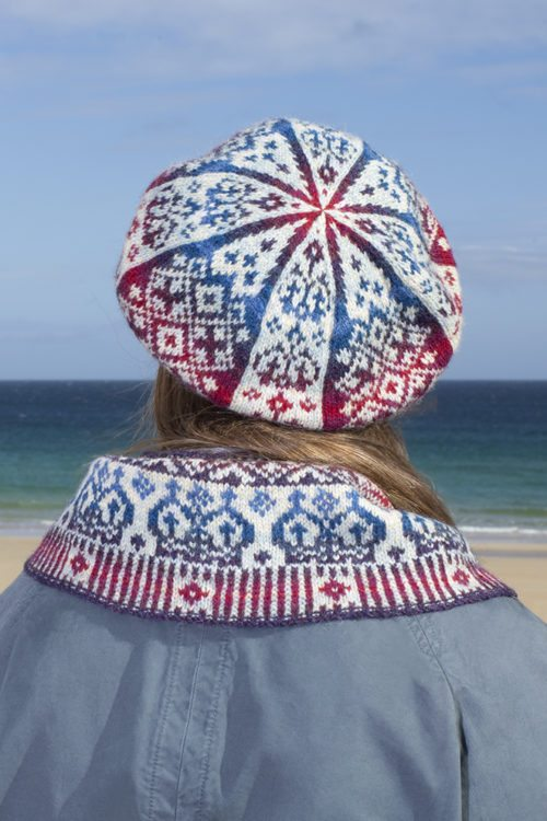 Diamond Jubilee patterncard kit by Alice Starmore in Hebridean 2 Ply pure British wool hand knitting yarn