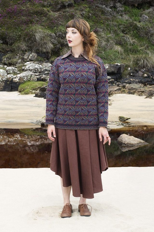 Donegal patterncard kit by Alice Starmore in Hebridean 2 Ply pure British wool hand knitting yarn
