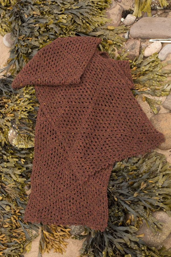 Driftnet patterncard kit by Alice Starmore in Hebridean 2 Ply pure British wool hand knitting yarn