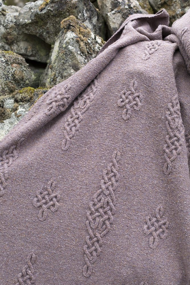 Dunadd patterncard kit by Alice Starmore in Driftwood Hebridean 3 Ply pure British wool hand knitting yarn