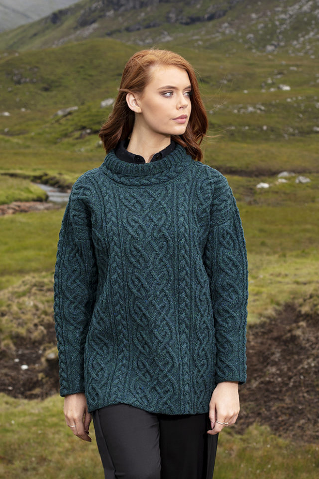 St Brigid hand knitwear design from the book Aran Knitting by Alice Starmore