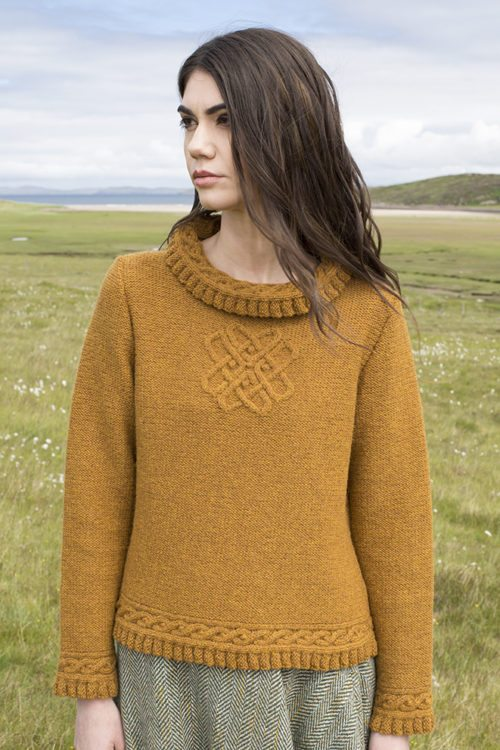 Eightsome Reel patterncard kit by Alice Starmore in Hebridean 3 Ply pure British wool hand knitting yarn