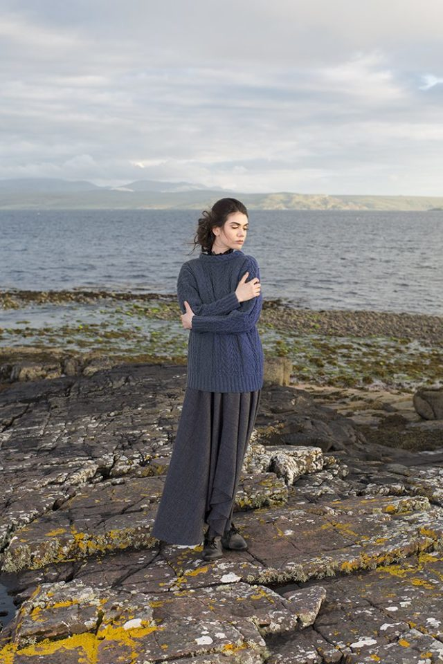 Fern patterncard kit by Alice Starmore in Hebridean 3 Ply pure British wool hand knitting yarn