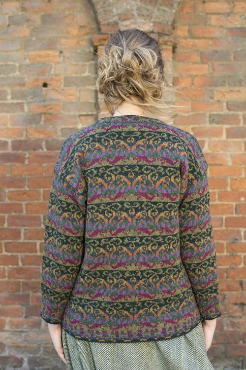 Firebirds design patterncard kit by Jade Starmore in Hebridean 2 Ply pure British wool hand knitting yarn