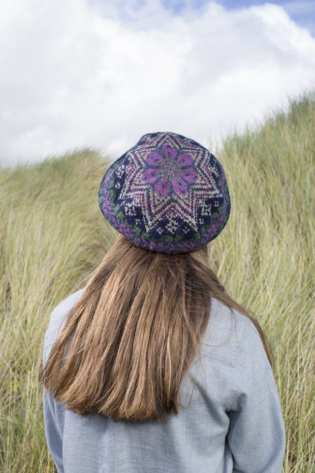 Hat Trick patterncard kit by Alice Starmore in Hebridean 2 Ply pure British wool hand knitting yarn