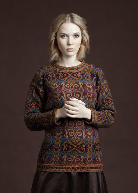 Henry VIII design patterncard kit by Alice Starmore in Hebridean 2 Ply pure British wool hand knitting yarn