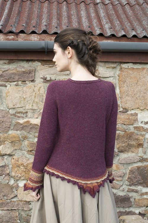 Herald patterncard kit by Alice Starmore in Hebridean 2 Ply pure British wool hand knitting yarn