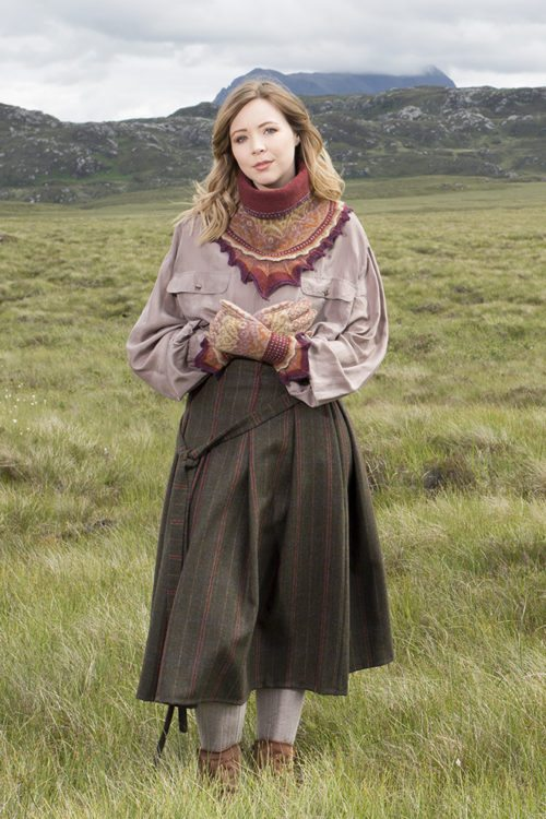Herald accessory set patterncard kit by Alice Starmore in Hebridean 2 Ply pure British wool hand knitting yarn