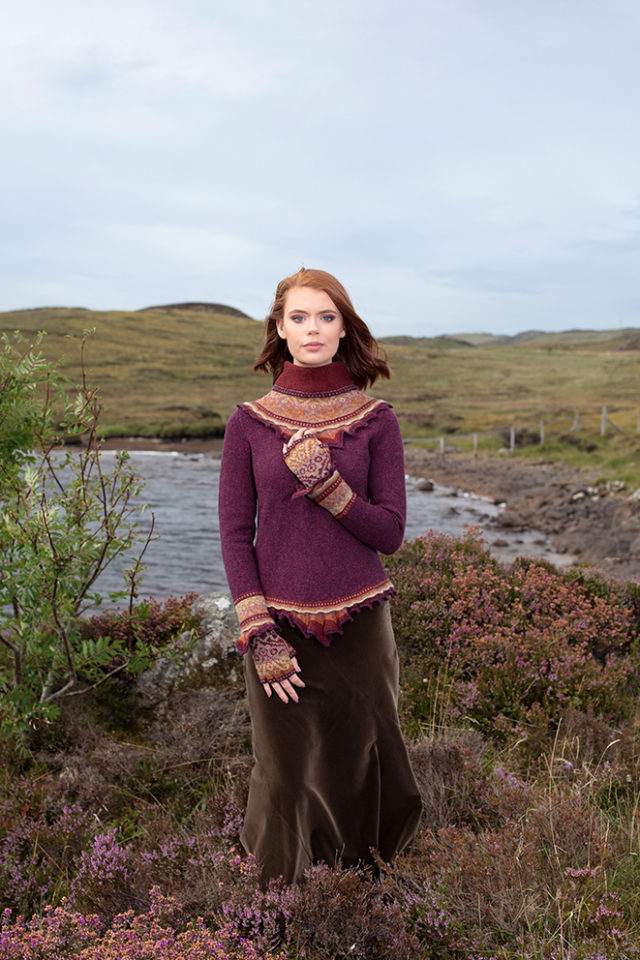 Herald Set patterncard knitwear design by Alice Starmore in pure wool Hebridean 2 Ply hand knitting yarn