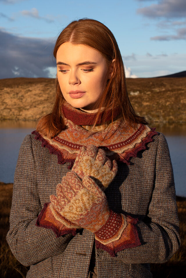 Herald patterncard kit design by Alice Starmore in Hebridean 2 Ply yarn