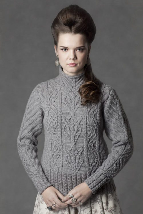 Anne of Cleves hand knitwear design by Jade Starmore from the book Tudor Roses