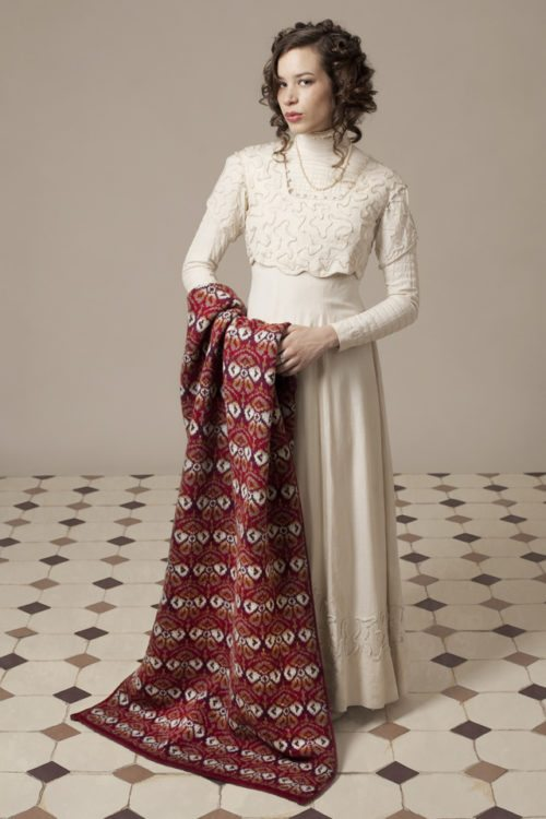 Lady Mary hand knitwear design by Jade Starmore from the book Tudor Roses