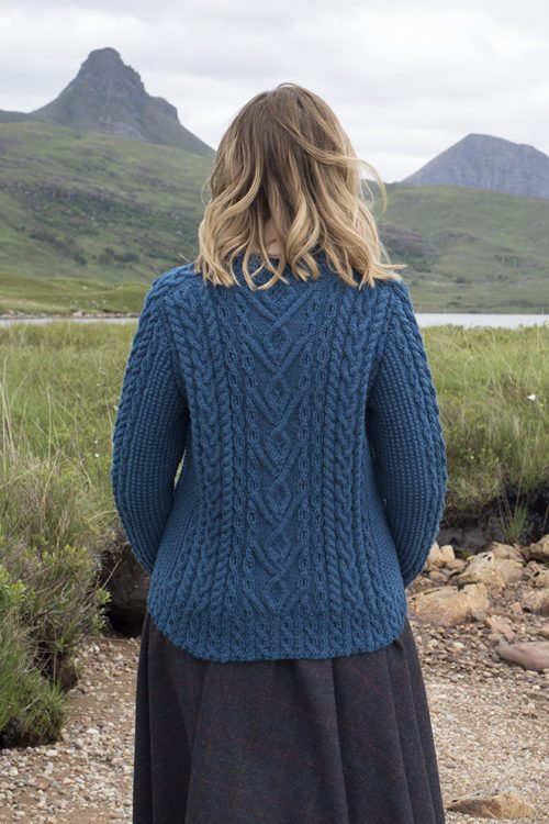 Malin patterncard kit by Alice Starmore in Bainin pure British wool hand knitting yarn