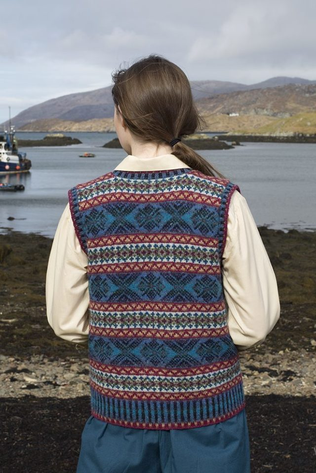 Mara patterncard kit by Alice Starmore in Hebridean 2 Ply pure British wool hand knitting yarn