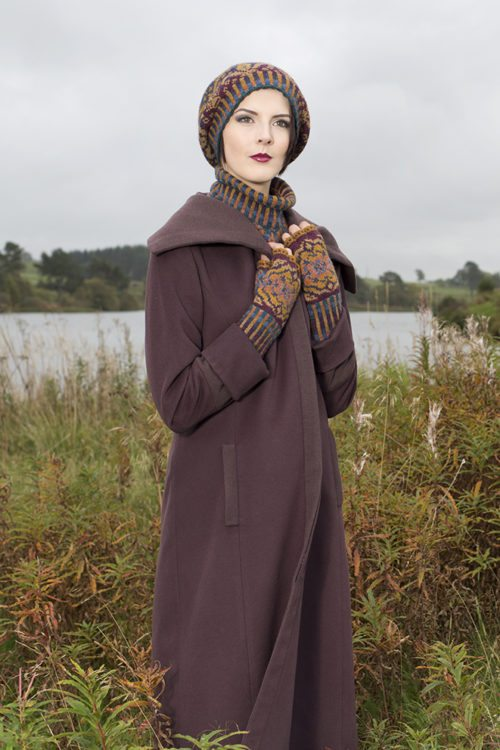 Mary Tudor Hat Set patterncard kit by Alice Starmore in Hebridean 2 Ply pure British wool hand knitting yarn