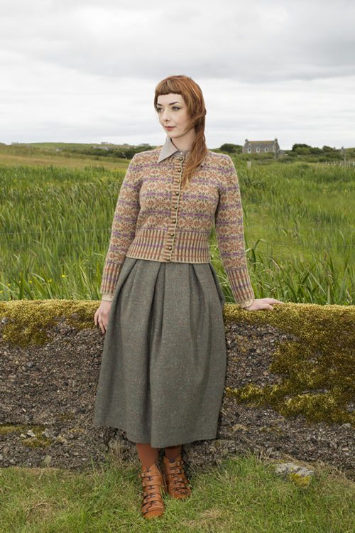 Meadowsweet patterncard kit by Alice Starmore in Hebridean 2 Ply pure British wool hand knitting yarn