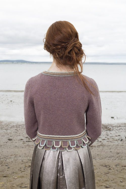 Mol Eire patterncard kit by Jade Starmore in Hebridean pure British wool hand knitting yarn